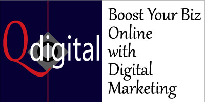 Qdigital: Boost Your Biz Online with Digital Marketing Branding 2A 400x200px