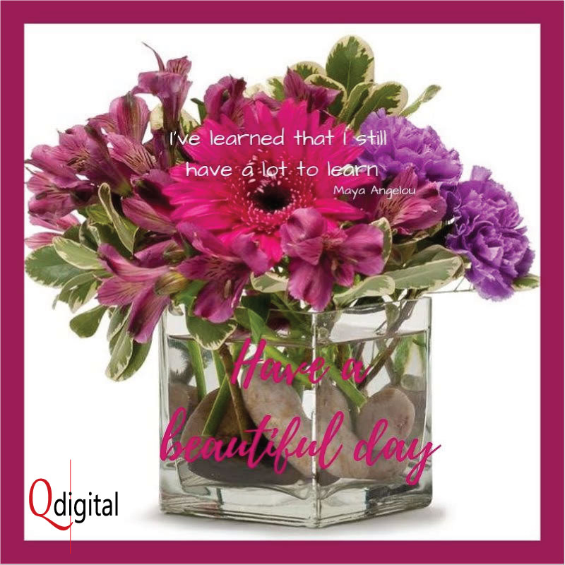Good Day Greeting  I have Lot To Learn for Branding Qdigital-Digital Marketing Agency 4A 800x800px
