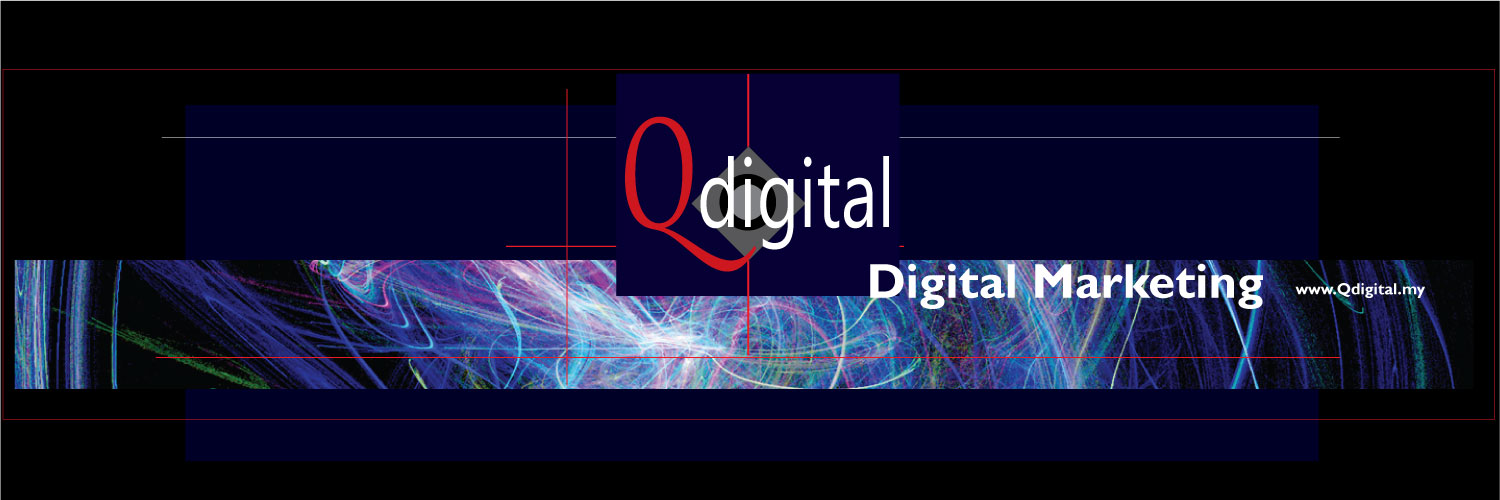 Design of Qdigital Brand Twitter Cover 1A 1500x500px